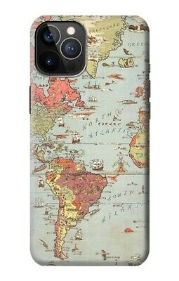 S3418 Vintage World Map Case For IPHONE Samsung Smartphone ETC • 9.99£