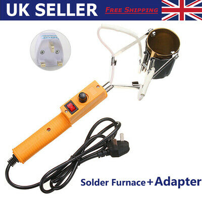 380W Electric Lead Melting Pot Solder Furnace Casting Heads Adjust + Adapter New • 16.89£
