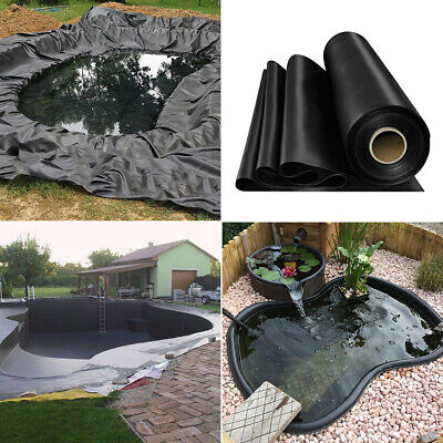 Outdoor Fish Pond Liners Garden Anti-seepage HDPE Liner Membrane Various Sizes • 55.14£