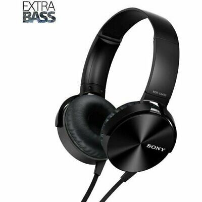 AU64.59 • Buy Sony Extra Bass On-Ear Headphones With Acoustic Bass Booster Mic Black