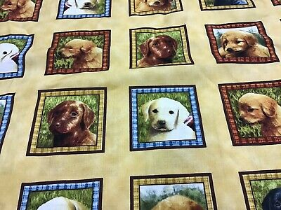 £14 • Buy 100% Cotton Fabric With Labrador Puppies