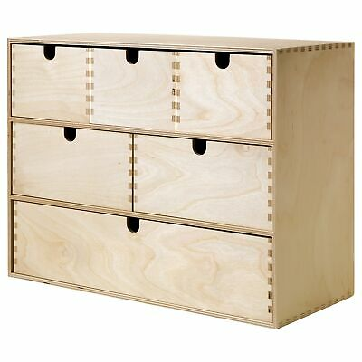Ikea Moppe Mini Wooden Chest Of 6 Drawers,Multi Use ,Boxes ,Jewellery Box  • 50£
