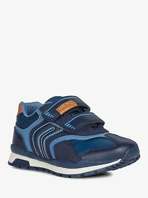 NEW Geox Pavel Boys Navy Breathable Leather-Lined Trainer Rrp £49 • 29£