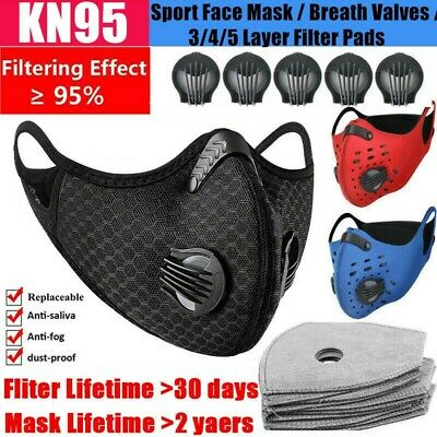 $ CDN8.37 • Buy Sports Mouth-muffle Cycling Face Shield Reusable & Activated Carbon Fliter Pads