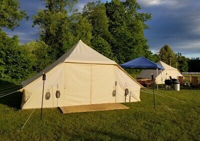 AU899 • Buy AU Shipped Large Cotton Canvas Family Camping Touareg Tent For 8~10 Persons