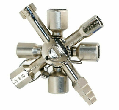 10 Way Service Utility Key 10 In 1 Universal Cross Plumber Keys Triangle Tools • 7.37£