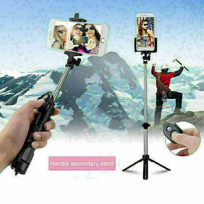 Universal Tripod Bluetooth Monopod Telescopic Selfie Stick Mobile Phone Holder • 6.59£