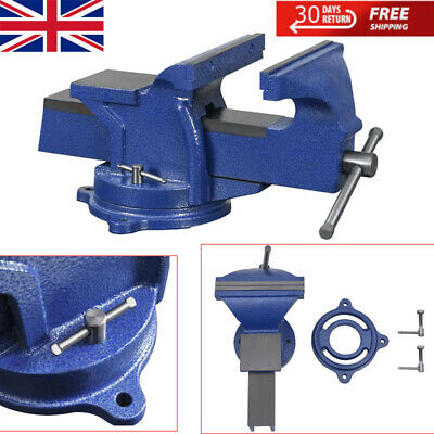 £122.46 • Buy Bench Vice With Swivel Base Vice Clamp On Work Bench Anvil Jaw Rotate 360° New