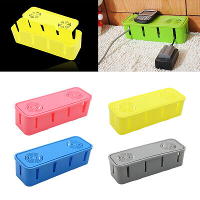 Cable Storage Box Container Wire Management Socket Safety Tidy Organizer Boxes • 4.98£