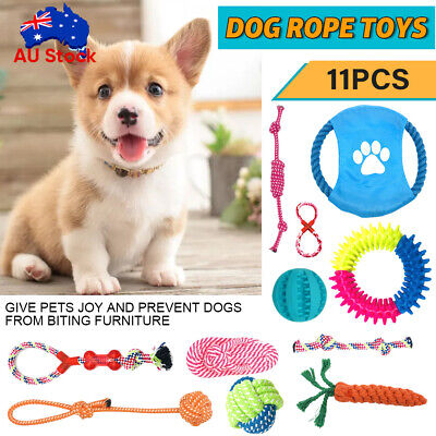 AU15.99 • Buy 11PC Dog Rope Toys Nolsen Pet Puppy Chew Toy Gift Set Durable Cotton Clean Teeth
