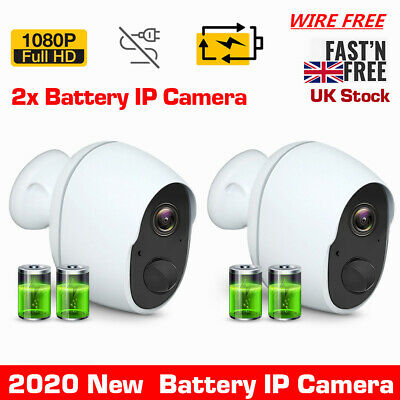 £78.99 • Buy UK 1080P Wireless Security Camera Rechargeable Battery Powered WiFi Outdoor Cam
