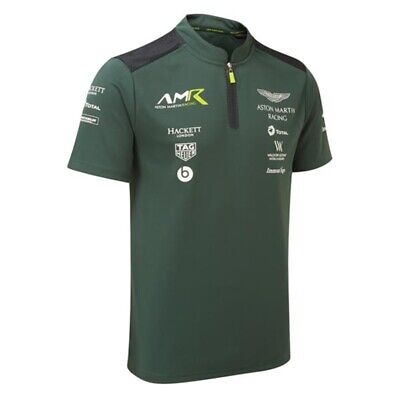 Aston Martin Racing Mens Team Sterling Green Polo Shirt-Official AMR Merchandise • 25£