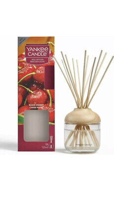 Yankee Candle Black Cherry Reed Diffuser 120ml Room Fragrance • 16.45£