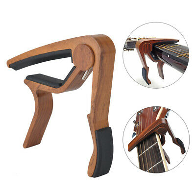 $ CDN9.88 • Buy Wood Guitar Capo Trigger Quick Change Key Clamp Ukulele Mandolin Acoustic