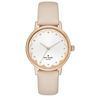 $ CDN103.99 • Buy Kate Spade Ladies Metro Scalloped Face And Nude Leather Watch  Ksw1472