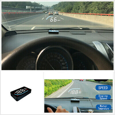 $29.60 • Buy Car Head Up Display OBD2 Speedometer Overspeed Warning Sys Windshield Projector