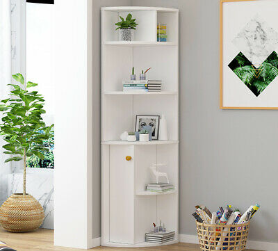 £51.99 • Buy Tall Wooden Freestanding Bookcase Shelving Display Storage Unit Cabinet Shelves