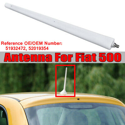 Fit For Fiat 500 Colour White Aerial Mast / Antenna 51932472 !! KN! 1 ZLL! • 12.82£
