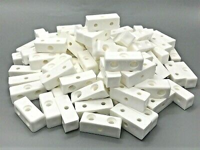 MODESTY BLOCKS White Furniture Connectors Fixit Blocks Cabinets Cupboards (771) • 0.99£