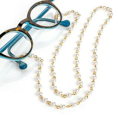 Glasses Cord Lanyard Straps Neck Pearl Spectacle Sunglasses Holder String Gift • 4.50£