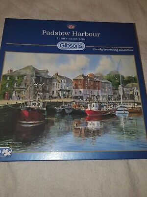 Gibsons 1000 Piece Jigsaw Puzzle Padstow Harbour By Terry Harrison • 9.99£