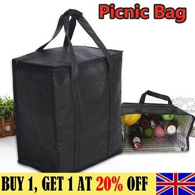 Extra Large Insulated Picnic Bag Ice Cool Bags Cooler Box   Food Drink 24/31L UK • 10.74£
