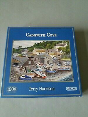 GIBSONS  'CADGWITH COVE' JIGSAW  By Terry Harrison 1000 PIECES • 8.90£