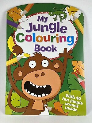 Toddler / Kids Fun Colouring Book My Jungle Colouring Book. Stocking Filler • 2.20£