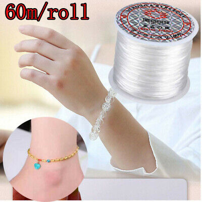 £2.33 • Buy 60m Strong Elastic Stretchy Beading Thread Cord For DIY Bracelet String Making