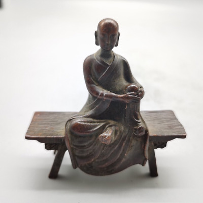Oriental Antique Bronze Collection, Bench Buddha,exquisite Craftsmanship • 9.99£