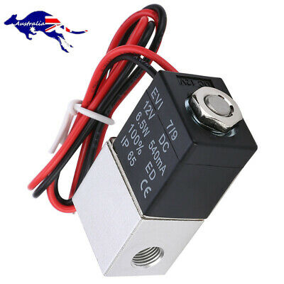 AU17.29 • Buy DC 12V Solenoid Valve 1/4  Normally Closed 2 Way Quick Release Pneumatic Valves