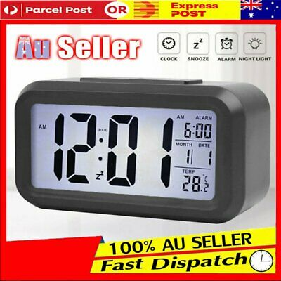 AU14.26 • Buy Led With Calendar+Thermometer Backlight Electronic Alarm Clock Digital Time AU