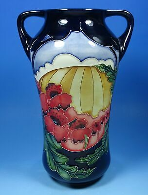 MOORCROFT Forever England 375/7 WW1 Remembrance Poppy 7  Vase RRP £485 • 195£