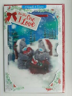 A Keepsake To Treasure  One I Love  3D Lenticular Me To You Christmas Card • 3.95£