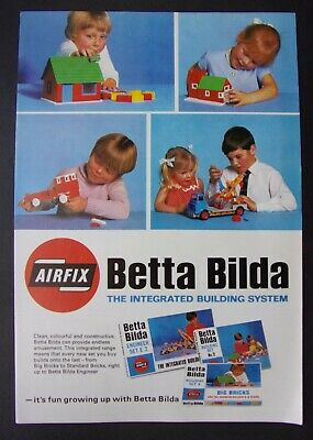 AIRFIX BETTA BILDA 1970's Toy Catalogue / Brochure, 6 Pages • 2.50£