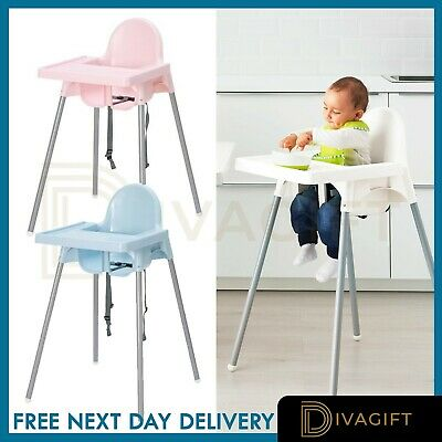 Adjustable 3-In-1 Baby Highchair Infant High Feeding Seat Toddler Table Chair UK • 25.99£