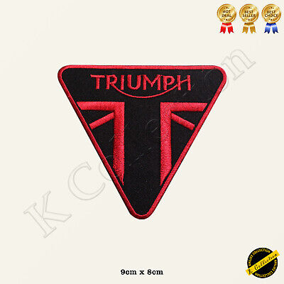 Triumph Motorcycles Biker Rocker Embroidered Iron On/Sew On Patch Badge • 1.99£
