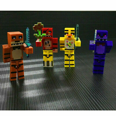 AU14.99 • Buy Minecraft Toy Figures 4pcs/set Five Nights At Freddys ** AU SELLER**