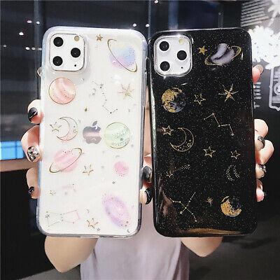 AU8.99 • Buy Glitter Cute Space Planet Soft Phone Case IPhone 12Pro Max 11Pro XR XS 6 7 8Plus