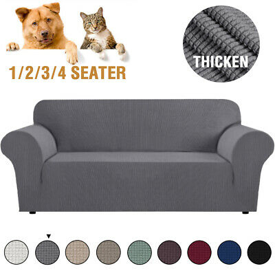 AU23.99 • Buy Super Stretch Couch Covers Sofa Covers Slip Covers Soft Thick 1/2/3/4 Seater AU