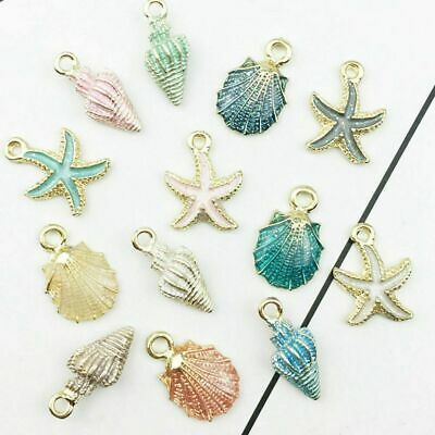 DIY Charms Jewelry Making Accessories 13 Pcs/set Mixed Conch Sea Shell Pendant • 3.99£
