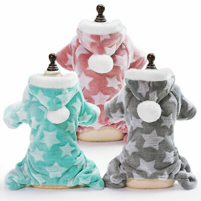Cute Dog Clothes Jumpsuit Warm Winter Puppy Cat Coat Pet Clothing Outfit • 4.96£