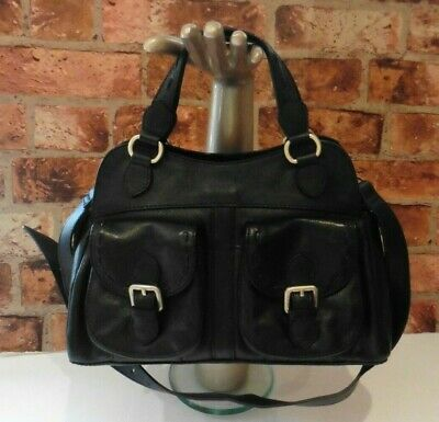 Bailey & Quinn Black Leather Tote Bag With Shoulder Strap Immaculate  • 27£