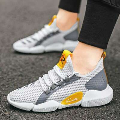 Mens Womens Sports Shoes Running Trainers Athletic Fitness Gym Lace Up Sneakers • 8.99£