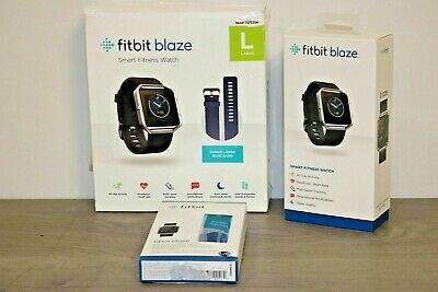 $ CDN115.05 • Buy Fitbit Blaze Smart Fitness Watch Bundle, Large Black + Extra Blue Band, FB502