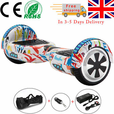 """View Details Kids Hoverboard 6.5"""" Graffiti Electric Scooters Bluetooth 2 Wheels Balance Board • 129.00£"""