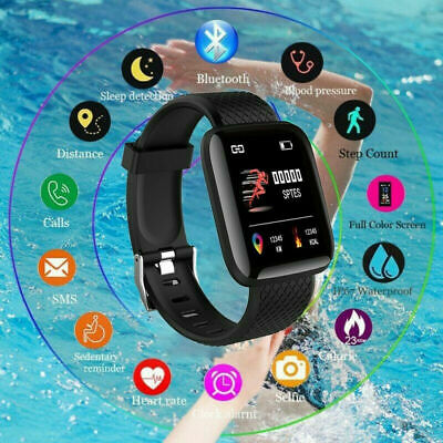 AU12.39 • Buy Smart Watch Heart Rate Sport Fitness Tracker Wristwatch For All Phone Step Gauge