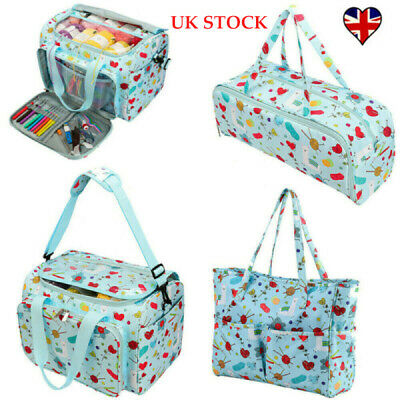 Knitting Yarn Storage Bag Case Crochet Hooks Thread Sewing Kits Organizer Bag • 17.89£