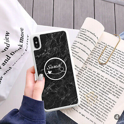 AU15.97 • Buy Personalised Marble Phone Case Cover And Text Holder For IPhone Samsung 081-4