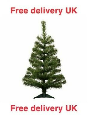 £6.99 • Buy Christmas Tree Xmas Artificial Traditional Pine Mini Small With Stand 2ft (60cm)